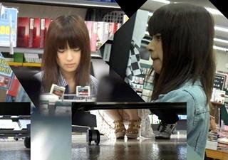 【個人撮影】完全に顔出しです・・ゲームSHOPでS級女子大生の極上パンチラを盗撮・・!!
