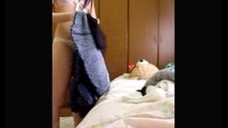 妹の着替えを盗撮した本物家庭内盗撮動画