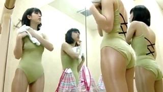現役バレエ講師が盗撮したレオタード美少女の着替え盗撮動画
