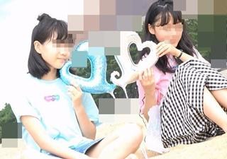 キャンディーショットが美少女JCフレンズの木綿パンチラを盗撮