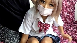 【ライブチャット】帽子男と美  ギャル(  ?)がセックス配信