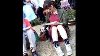学園祭で美少女JDのパンチラ盗撮