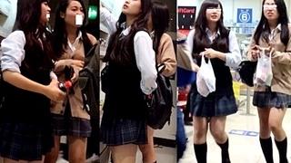 アイドル級の美少女JKの逆さ撮りパンチラ