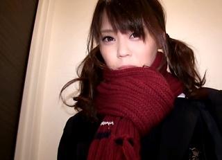 マフラーを巻いた超美少女JKのガチ円光動画(高画質)