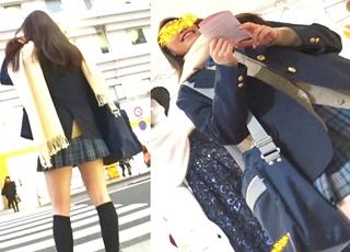 人気撮り師「あどくろ」氏デビュー作!制服JKの前屈みや靴下直しの瞬間を見事に捉えた顔出しパンチラ映像!