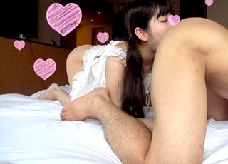 【個人撮影】エロさとキュートさをあわせ持つ素人女子大生!電マで悶絶アクメ後、お礼のアナル舐めでKOされるハメ師