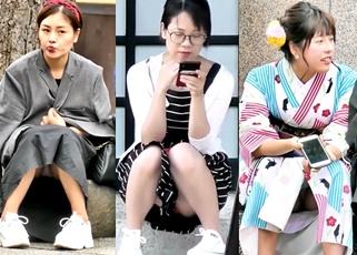もはや芸術の域!街角で見つけた美女達の座りパンチラを高画質で撮影した引退済み撮り師『邪狩』さんの遺作がこちら