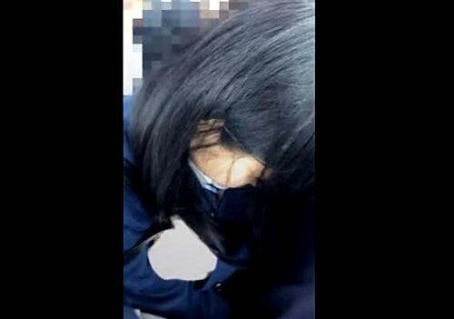【盗撮】看過できない問題映像!卑劣な痴漢行為の餌食となった4名の地味系制服娘たち