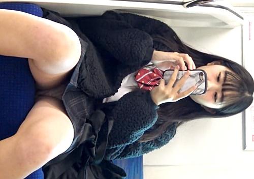 スミマセンつい出来心で・・今どきJKちゃんを電車で対面パンチラ盗撮した男の投稿動画がシコい件 | ADULTSEEK