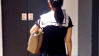 【ガチ痴漢】見ず知らずの男とエレベーターで2人きりになるとこうなる・・大人しい私服JKちゃんの場合