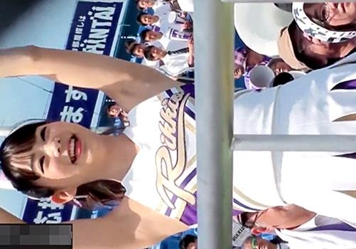 【動画】某有名大学のアイドル級チアリーダーのアンスコからのハミパンが抜けると話題に