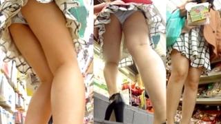 家電量販店で美女たちのパンチラを逆さ撮りした動画がハイレベル美脚揃いでやべぇ
