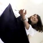 【Mr.研修生】明るくて愛想もよい美人アパレル店員のスト越し白パンチラ