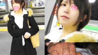 【痴漢動画】品●駅から帰宅中のショートカット美女、パンスト破かれ手マンで震えるほど感じさせられる