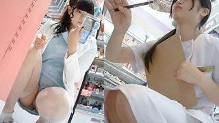 美人ナースとコスメ店員のドアップパンチラをWゲットする有能撮り師の功績www(盗撮動画)