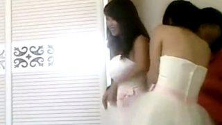 """【ガチ】ブライダル業界を震撼させた伝説の """"ウェディングドレス試着室盗撮動画"""" 流出・・・"""