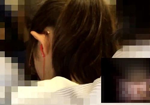【本物痴漢映像】JC疑惑のメガネ少女が満員電車で痴漢被害をうけている問題映像がこちら