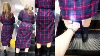 盗撮被害女性3名。デジカメ片手にエスカレーターでパンチラ手撮りする危険人物・・(動画)