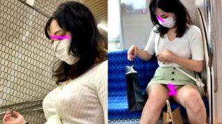 """高身長のモデル系お姉さん、電車で居眠り中のところ """"約30間"""" 対面パンチラ盗撮されるwwww"""