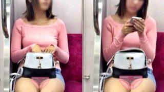 【電車対面】こういう隠してるつもりなのに丸見えのミニスカ女のパンチラってエロいよなww【山田さんの流出動画】