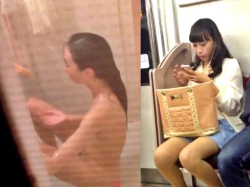 【閲覧注意】ストーキング盗撮魔、JDを自宅まで追跡してお風呂場で全裸を隠し撮り・・・