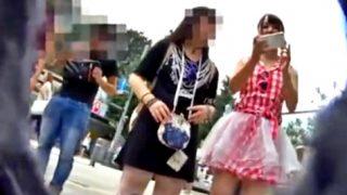 """ロリータファッションの私服JKちゃん、スカートの中も可愛すぎる """"綿のプリントぱんつ"""" だったww(kakurega)"""