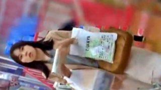 【動画】「あの人盗撮してる‥!?」清楚なロンスカ美女に怪しまれながらパンチラ盗撮する危険人物
