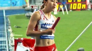 【動画】激カワ陸上アスリート美女のレーシングブルマ、エロ目線でしか見れないwww