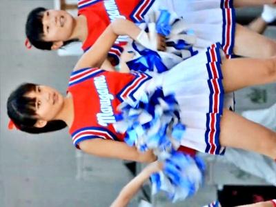 【動画】超絶美少女JKチアちゃん、ハイキックでハミパンしてしまうハプニングwwww